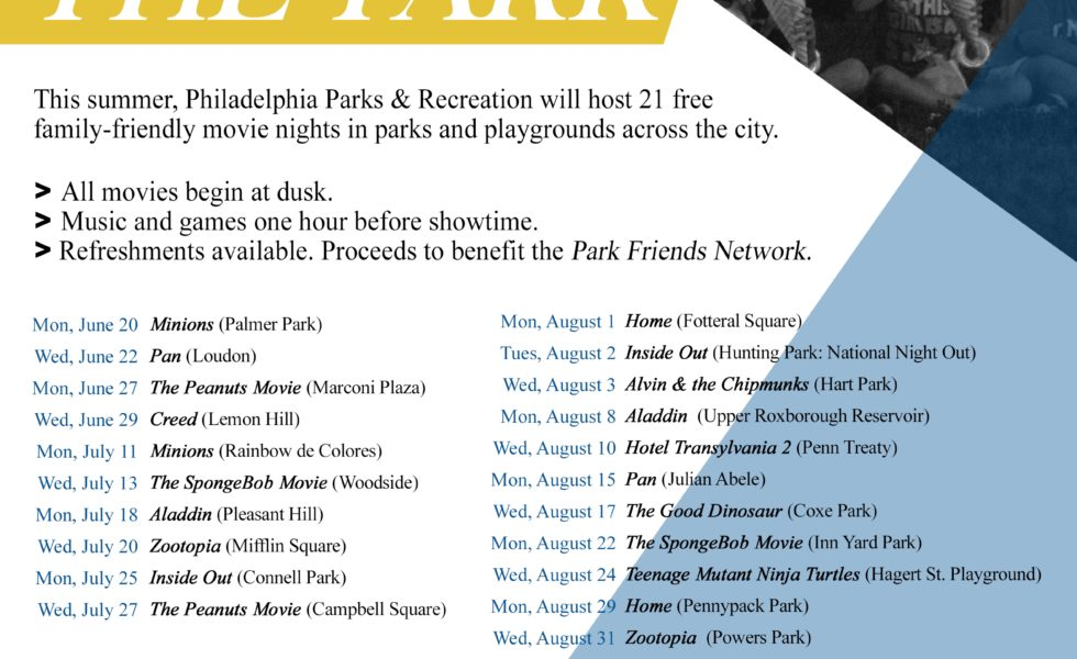 PHL Parks & Rec Guide to Movie night schedule_final